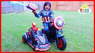 Nonton Avengers Superhero Captain America Motorcycle Power Wheels Ride On Car  Film Subtitle Indonesia Streaming Movie Download