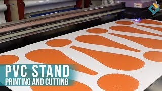 Printing and cutting process of future decorative PVC Stands