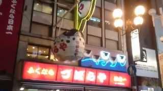 大阪なんばづぼらや、の看板【DotonboriOsakaJapan】 再生