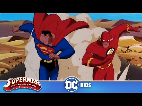 Superman: The Animated Series | Superman Races The Flash | Dc Kids