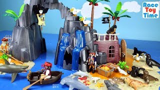 Video Playmobil Pirate Treasure Island Playset Build and Play with Sea Animals Toys For Kids MP3, 3GP, MP4, WEBM, AVI, FLV Juni 2017
