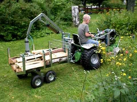 Homebuild Tractor With Compressed Air Woodcart Bcs Model 853 Walk Images Frompo