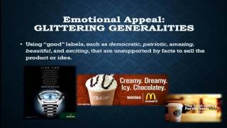 How do advertisers actually seek to persuade us? Watch on to see a group of emotional and logical appeals common to acts of ...