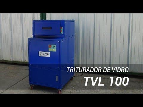 Triturador de vidro compacto para reciclagem TVL 100