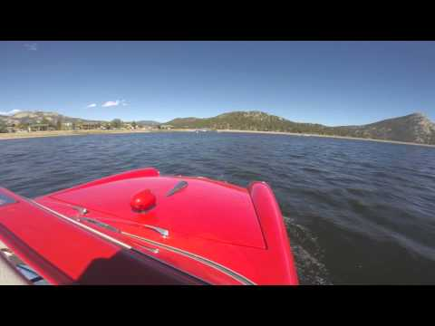 A GREAT day for a ride in an Amphicar in Lake Estes!