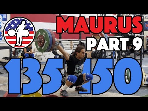 Harrison Maurus Part 9/11 Pre 2017 WWC Training 135kg Snatch + 150kg Clean And Jerk [4k60]