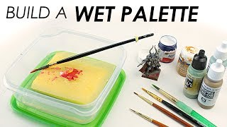 How to build your own simple wet palette so you to paint your scale models or miniatures more easily! Includes an explanation of...