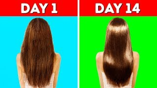 Video 22 HACKS YOU NEED TO KNOW TO MAKE YOUR HAIR LONG AND HEALTHY MP3, 3GP, MP4, WEBM, AVI, FLV September 2018