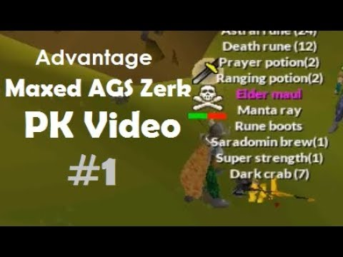 Advantage Maxed 75 Atk Zerker Edgeville PK Video - WeOSRS (видео)