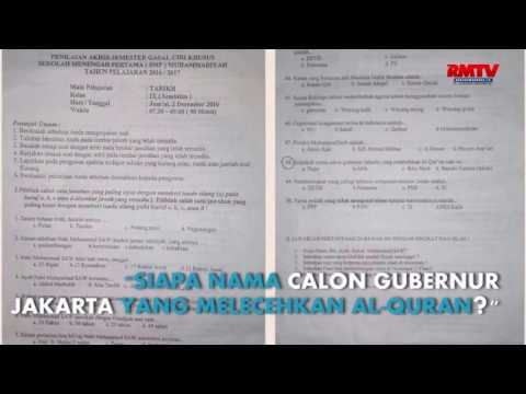 Heboh, Kasus Penistaan Agama Ahok Jadi Soal Ujian SMP