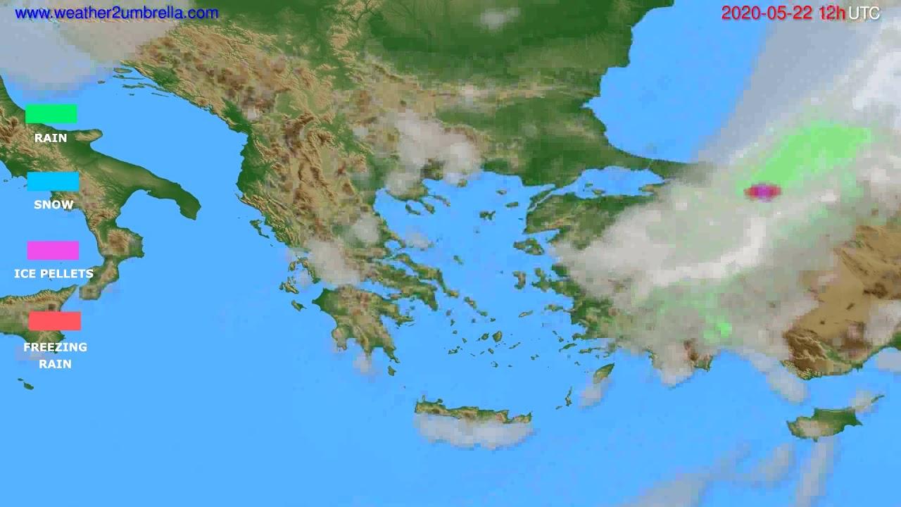 Precipitation forecast Greece // modelrun: 00h UTC 2020-05-22