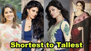Video Shortest to Tallest all Bollywood actresses shocking height MP3, 3GP, MP4, WEBM, AVI, FLV Mei 2018