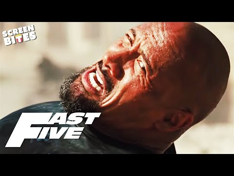 Dwayne Johnson as Agent Hobbs | The Rock in Fast & Furious | Fast Five | SceneScreen