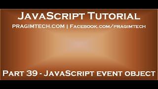 JavaScript event object