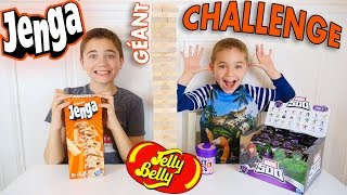 Video JENGA CHALLENGE GÉANT !!! Surprises ou Jelly Belly ? MP3, 3GP, MP4, WEBM, AVI, FLV Mei 2017
