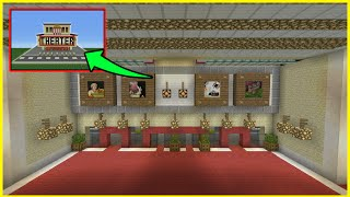 Minecraft Tutorial: How To Make a Movie Theater Interior/Exterior (Inside/Outside)