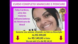 Aulas de manicure com Faby Cardoso - Faby Cardoso - Curso é bom? Manicure Pedicure online, adesivos de unhas e unhas decoradas