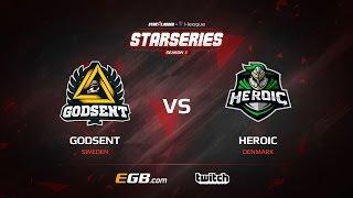 GODSENT vs Heroic, map 3 train, SL i-League StarSeries Season 3 Europe Qualifier