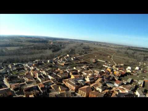 Vista aérea: Puentedura, Quintanilla del Agua y Tordueles