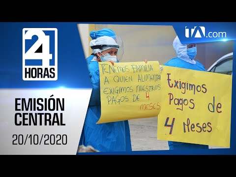 Noticias Ecuador: Noticiero 24 Horas, 20/10/2020 (Emisión Estelar)