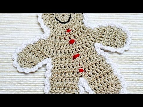 How To Make A Crocheted Gingerbread Boy Applique - DIY Crafts Tutorial - Guidecentral