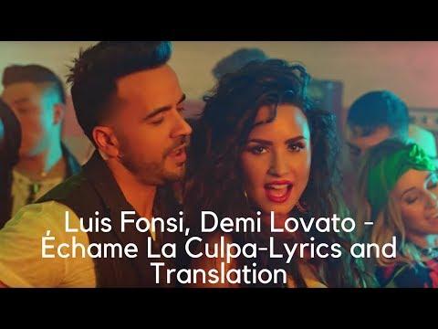 Video Luis Fonsi, Demi Lovato - Échame La Culpa--Lyrics and Translation download in MP3, 3GP, MP4, WEBM, AVI, FLV January 2017