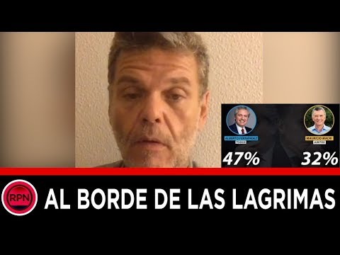 Videos caseros - Alfredo casero al borde de las lagrimas, se mostró re dolido por la derrota del Gobierno