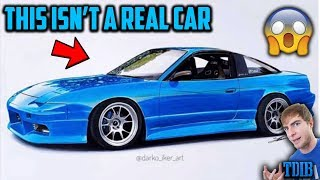 Reacting to Amazing Realistic Drawings of My Project Cars! (2JZ 240sx, Mustang GT, and More!) by That Dude in Blue