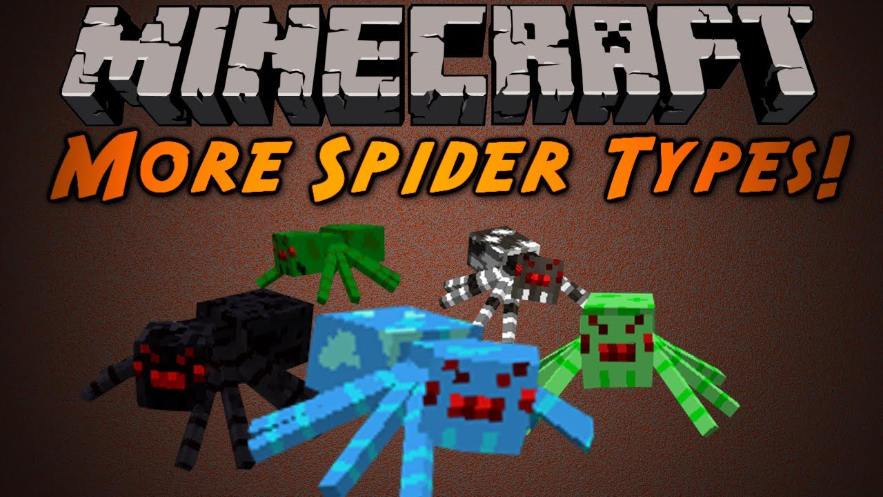 Minecraft: More Spider Types Mod!
