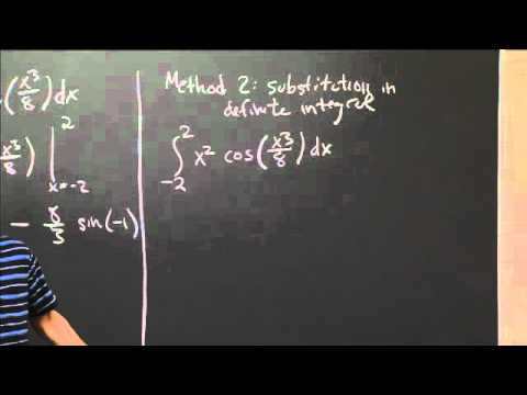 Definite Integral by Substitution | MIT 18.01SC Single Variable Calculus, Fall 2010