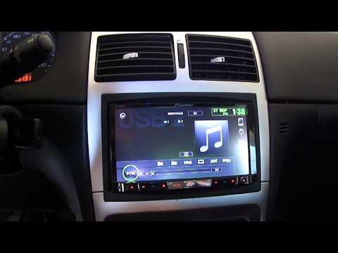 Pioneer AVH 8450 / 8480 com Interface para Peugeot 307 (AVH-8450BT / AVH-8480BT)