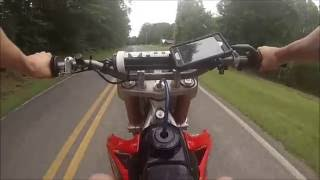 4. CRF 450r Top Speed Attempt - GoPro HD