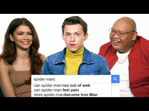 Tom Holland Zendaya  Jacob Batalon Answer the Web s Most Searched