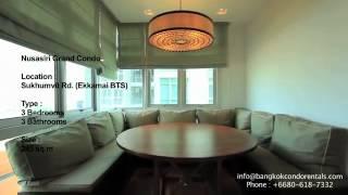 For Rent Bangkok: Nusasiri Grand Condo 250sqm Including Balcony .mp4