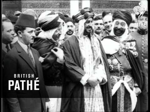 السلطان يوسف يسارا خلال افتتاح مسجد باريس
