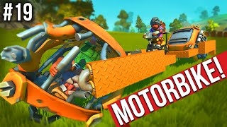 I BUILT A MOTORBIKE WITH FARMERS FOR WHEELS!! - SCRAP MECHANICS SURVIVAL #19