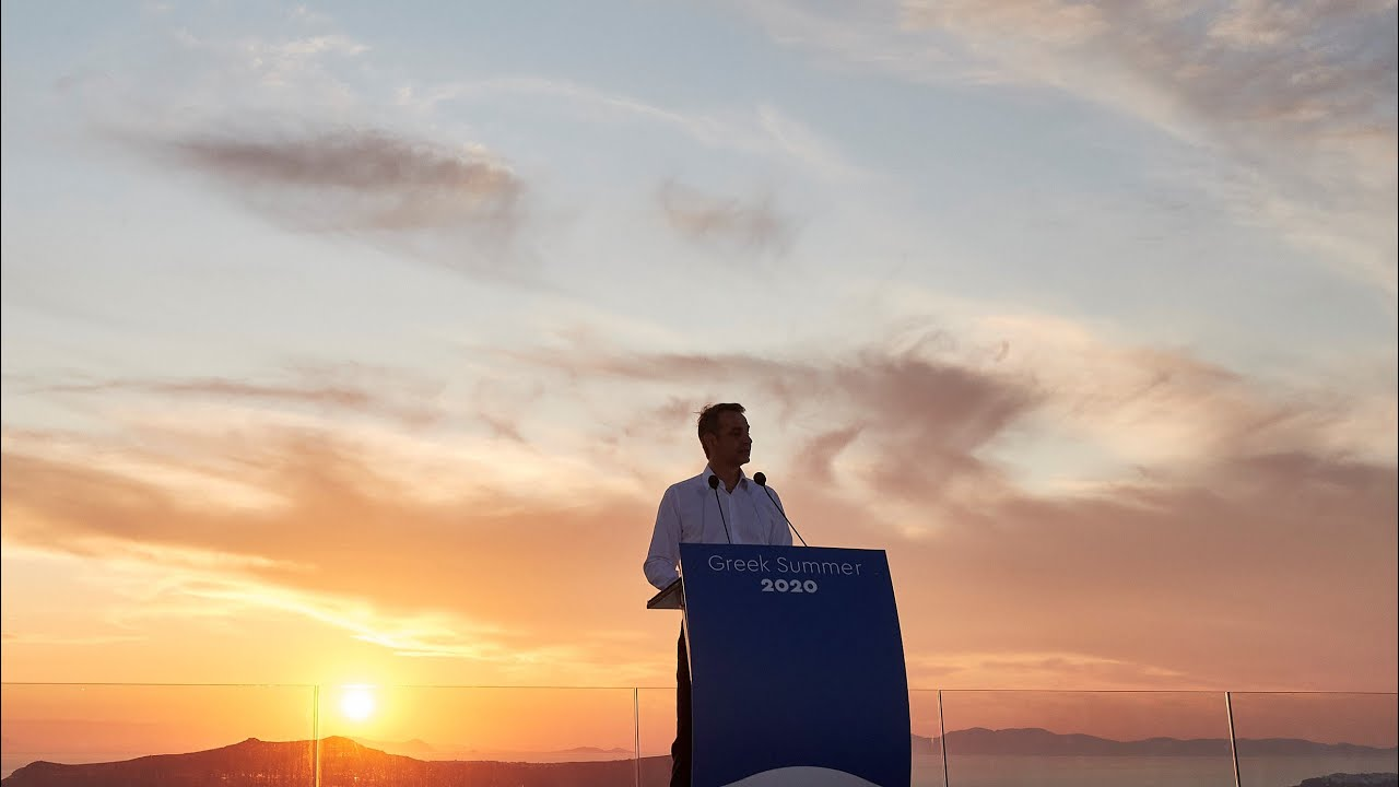 PΜ Mitsotakis' Press Conference on the reopening of Greek tourism from the island of Santorini