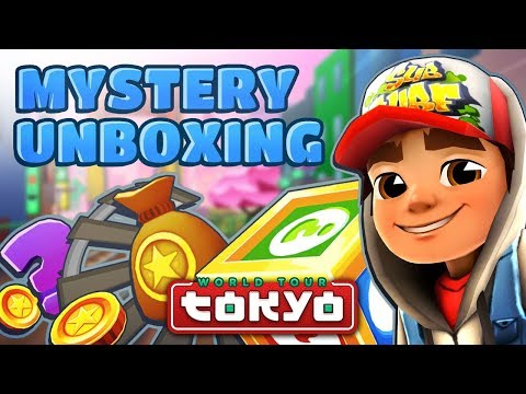 Subway Surfers Mystery Unboxing - Opening Mystery Boxes in Tokyo (видео)