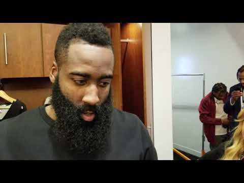 James Harden after Rockets beat Nuggets