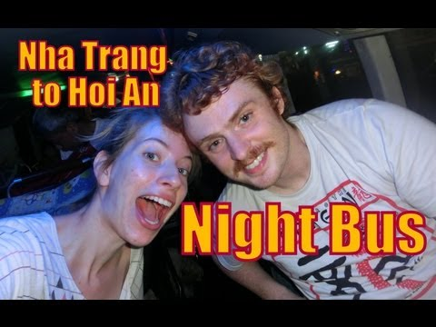 Nha Trang to Hoi An, Vietnam overnight sleeper bus ride travel video
