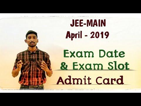 #Jeemain#april2019 Jee Main April 2019 Exam Date and Slot | NTA | Admit Card