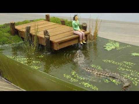 How to Make The Swamp  Crocodile Diorama  Resin Art