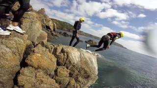 Hann/Swansbury Coasteering Adventure on our summer holiday August 2016 courtesy of OutdoorGuernsey.co.uk for taking us.