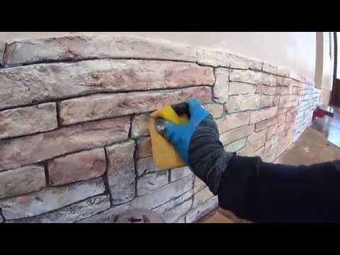 Искусственный камень своими руками покраска