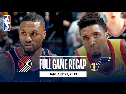 Video: Full Game Recap: Trail Blazers vs Jazz | Nurkic & Lillard Lead POR