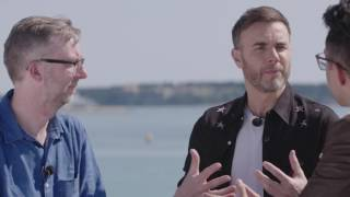 """""""The shows are only ever as good as the people you're putting on that stage.""""Take That frontman Gary Barlow was in Cannes to promote BBC Let It Shine, the music show format he co-created, which will find talent to join the cast of a brand new stage show featuring the music of Take That. He spoke to Ali May at MIPTV with Guy Freeman, the BBC's Editor of Formats and Special Events. BBC Worldwide is the international distributor for Let It Shine.More videos live from Cannes: http://ow.ly/ZJlQ30aAo2P"""