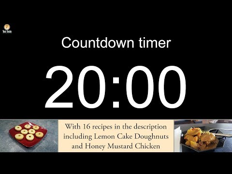 Video 20 minute Countdown timer (with alarm) download in MP3, 3GP, MP4, WEBM, AVI, FLV January 2017