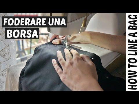 come foderare l'interno della borsetta