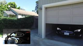Watch Amazon's Alexa summon a Tesla Model S out of a garage