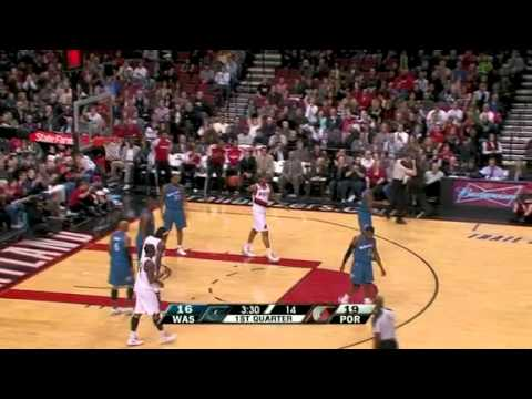Nicolas Batum scores and one against Wizards